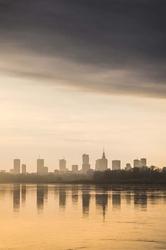Warszawa słonecznie - plakat premium wymiar do wyboru: 100x140 cm