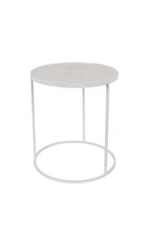 Zuiver :: stolik metalowy glazed biały