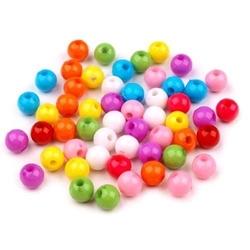 Kolorowe kulki do biżuterii 7mm20 g