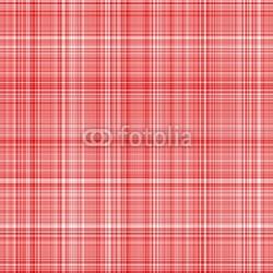 Obraz na płótnie canvas trzyczęściowy tryptyk czerwona tkanina w szkocką kratę