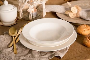 Zestaw obiadowy dla 6 osób porcelana mariapaula ecru 18 elementów