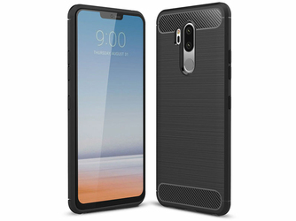 Etui Alogy Rugged Armor do LG G7 ThinQ Czarne + Szkło