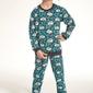 Piżama chłopięca cornette  26492 kids koala3 turkus