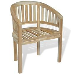Krzesło do ogrodu banna drewniane