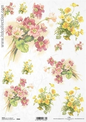 Papier ryżowy itd a4 r960 prymulki kwiaty