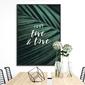 Plakat w ramie - just live and love , wymiary - 60cm x 90cm, ramka - czarna