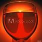 Plakat na papierze fotorealistycznym czerwone wino