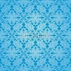 Obraz na płótnie canvas trzyczęściowy tryptyk jedwabny cyjan