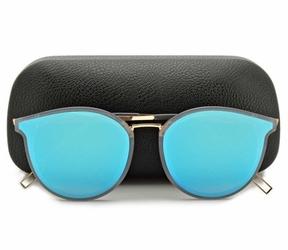 Okulary kocie przeciwsłoneczne damskie lustrzane niebieskie std-52