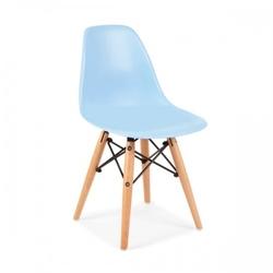 Małe krzesełko krzesło dla dzieci dsw retro niebieskie