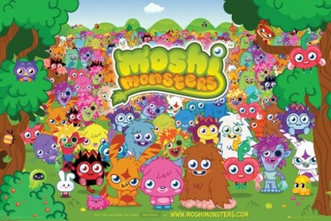 Moshi Monsters Landscape - plakat