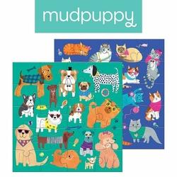 Puzzle magnetyczne Koty i psy, 4+, Mudpuppy