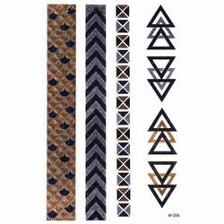 NAKLEJKI TATUAŻE trójkąty KWADRATY złote - STRIPES