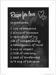 Recipe For Love - plakat premium