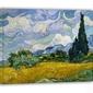 Pole pszenicy z cyprysami - vincent van gogh - obraz na płótnie wymiar do wyboru: 50x40 cm