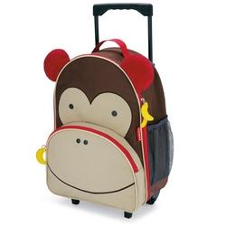 Walizka na kółkach dla dzieci zoo skip hop - małpka