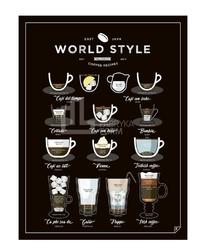 Plakat World Style Coffee 21 x 30 cm