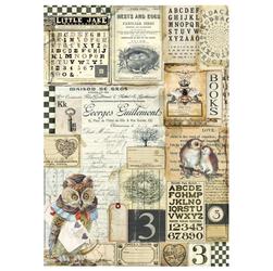 Papier ryżowy Stamperia A4 napisy patchwork
