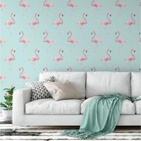 Tapeta na ścianę - marine flamingo , rodzaj - tapeta flizelinowa laminowana