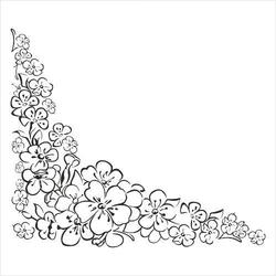 Stempel gumowy narożnik kwiaty