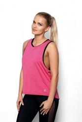 Koszulka eldar fit abel różowyczarny