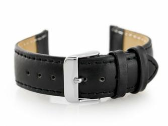 Pasek skórzany do zegarka W02 - PREMIUM - czarny- 18mm