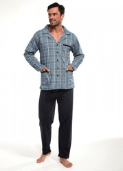 Piżama męska cornette 11440 dłr m-2xl rozpinana