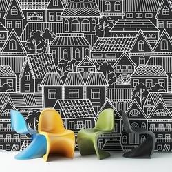 Houses - tapeta ścienna , rodzaj - tapeta flizelinowa laminowana