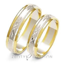 Obrączki ślubne dwukolorowe złoty skorpion – wzór au-a220