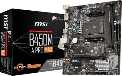 Msi płyta główna b450m-a pro max am4 2ddr4 dvihdmi m.2 uatx