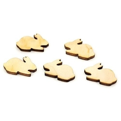 Drewniane scrapki 5 szt - zajączek - zaja