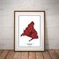 Crimson cities - madrid - plakat