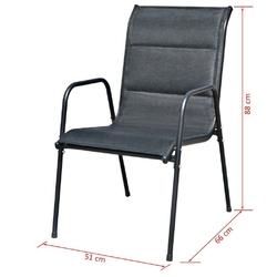 Zestaw ogrodowy stół + krzesła 8 osób troia czarny