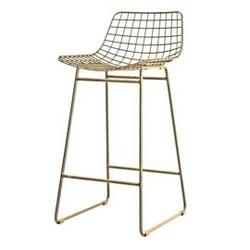 Hk living :: mosiężny stołek barowy