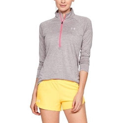 Koszulka damska under armour new tech 12 zip - twist - szary