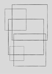 Kwadraty - plakat wymiar do wyboru: 21x29,7 cm