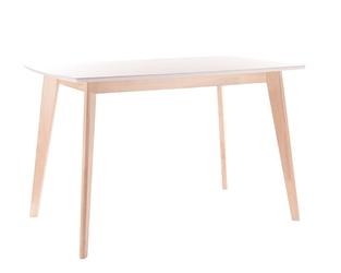 Stół bomma 120x75cm biały, dąb bielony