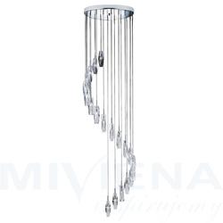 Sculptured ice lampa wisząca 20 chrom