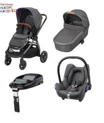 Wózek 4w1 maxi cosi adorra + gondola oria + maxi cosi cabriofix + familyfix