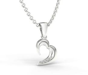 Wisiorek w kształcie serca z białego złota z diamentami apw-26b