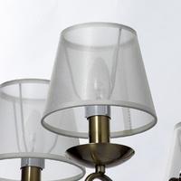 Żyrandol cienkimi ramionami i beżowymi kloszami federica mw-light elegance 684012305