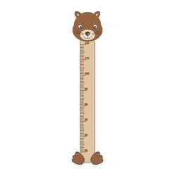 naklejka miarka wzrostu niedźwiadek 21