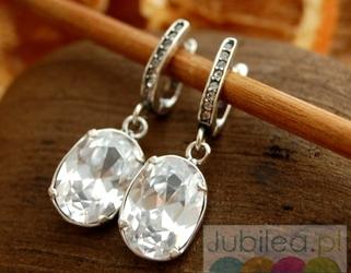 SALZBURG - srebrne kolczyki z kryształem Swarovskiego
