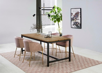 Designerskie krzesło na złotej podstawie cruz vic