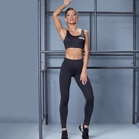 Zestaw fitness labellamafia set lbm sports black sports bra + legging
