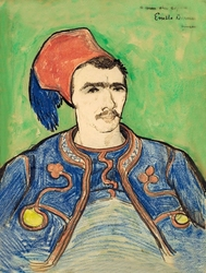 The zouave, vincent van gogh - plakat wymiar do wyboru: 50x70 cm