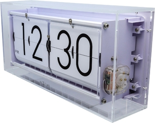 Zegar klapkowy  stołowy big flip clear nextime transparentny 5209 tr