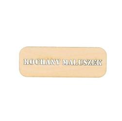 Drewniana tabliczka z napisem kochany maluszek - 03