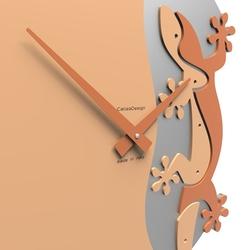 Zegar ścienny geko climbing calleadesign jasnobrzoskwiniowy 54-10-2-22