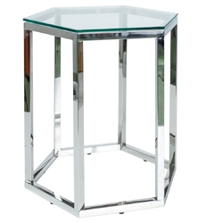 Szklany stolik pomocniczy w kształcie sześcianu conti 1 szt.